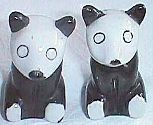Porcelain Panda Bear Salt And Pepper Shakers