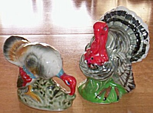 Vintage Hen & Tom Turkey Shakers