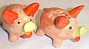 Occupied Japan Pig Shakers Orange