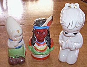Lot of 3 Single Shakers Indian, Dutch Girl (Image1)