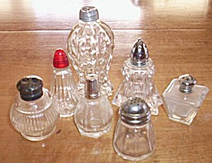 Mixed Lot 7 Single Glass Shakers