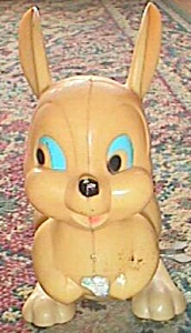 Vintage Wind Up Hopping Easter Bunny Toy (Image1)