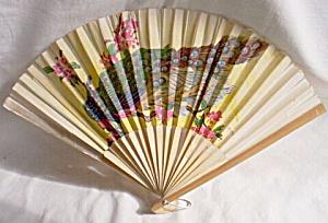 Vintage Oriental Fan Peacock (Image1)