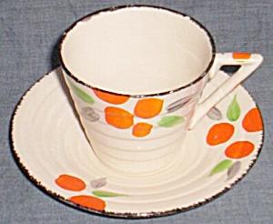 Art Deco Cup & Saucer Ivory England Swinnertons (Image1)