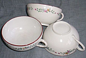 3 Antique Eggshell Porcelain Coffee Cups (Image1)