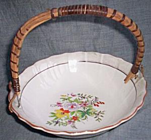 Vintage Luster Ring Basket Bowl Floral Center (Image1)
