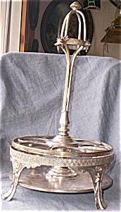 Silver Plated Castor Stand John O. Mead (Image1)