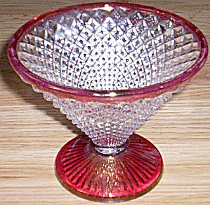 Westmoreland English Hobnail Candy Ruby Flash