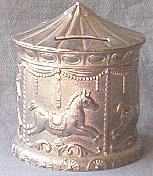 Cast Metal Still Bank Carrousel  (Image1)