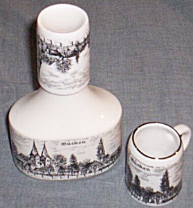 Porzella Bavaria Porcelain 3 Pc Decanter Set (Image1)