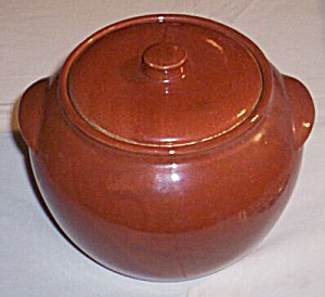 Watt Yellowware Yellow Ware Yelloware Bean Pot w/ Lid (Image1)