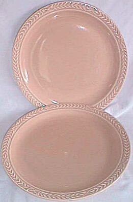 Pair Universal China Dinner Plates Laurella Beige