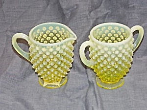 Fenton French Opalescent Topaz Cream & Sugar Set (Image1)