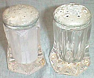 Antique Salt And Pepper Shakers Hexagon