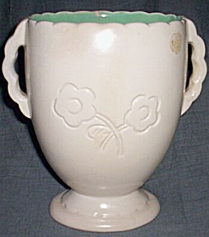 Red Wing Vase #889 Embossed Flowers