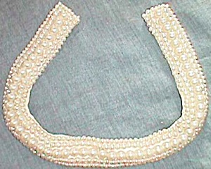 Vintage Beaded Collar Sally Gee Creations Free Shipping (Image1)