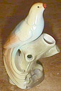 Vintage Czechoslovakia Bud Vase with Bird on Top Long T (Image1)