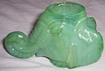 Boyd Elephant Head Toothpick Holder Jadeite