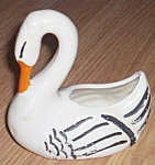 Click here to enlarge image and see more about item 52007-41: Swan Planter