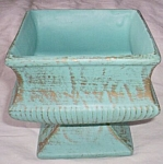 Click here to enlarge image and see more about item ai-13: McCoy Pedestal Bowl Robins Egg Blue
