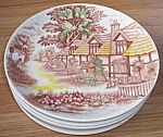 Click to view larger image of 6 WWQ English Cottage Dinner Plates (Image1)