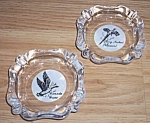 Click here to enlarge image and see more about item ai-29: Canada Goose Ring Neck Pheasant Ashtray Set