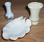 2 Mini Vase 1 Console Bowl Dollhouse