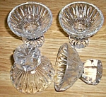 4 Crystal Ice Cream Holders