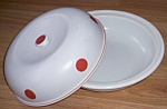 Click to view larger image of Hall Red Polka Dot Covered Casserole (Image1)
