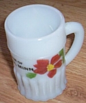 Antique Mini Glass Mug Souvenir Wheaton Minnesota