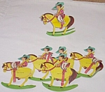 Click here to enlarge image and see more about item antsh-20: 6 Vintage Cowboy Crepe Paper Part Favors Free Shipping