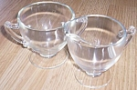 Click to view larger image of Elegant Cream and Sugar Set Crystal (Image1)