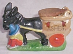 Click here to enlarge image and see more about item aur-11: Vintage Donkey Pulling Cart Ashtray