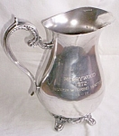 Silver Plated Trophy Pitcher Merrywood