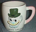 Click here to enlarge image and see more about item bar112704-17: 1961 Childs Mug Ludwig Von Drake Walt Disney Production