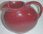 Click to view larger image of Vintage Maroon Water Pitcher Ice Lip Squished Ball (Image1)