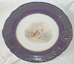 Antique Potter's Co. Plate Cobalt Rim Perfect