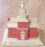 Click here to enlarge image and see more about item barm-10: Vintage Still Bank Independence Hall Free Shipping