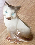 Click here to enlarge image and see more about item barm-11: Royal Copely Siamese Cat Planter