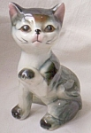 Adorable Kitten Figurine Paw Raised