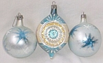 Click here to enlarge image and see more about item barm-28: 3 Christmas Ornaments Poland Glass Free Shipping
