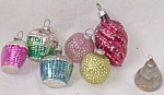 Click here to enlarge image and see more about item barm-30: 7 Mini Vintage Glass Ornaments Baskets Free Shipping