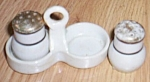 Click here to enlarge image and see more about item barm-50: Mini Porcelain Caddie Shaker Set Free Shipping