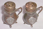 Click here to enlarge image and see more about item barm-55: Vintage Metal Souvenir Shakers Coffee Pots Marked