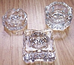 3 Antique Crystal Salts