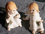 Click here to enlarge image and see more about item br-32: Pair Vintage Lefton Angels #04591