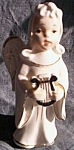 Click here to enlarge image and see more about item br-40: Vintage Angel with Harp