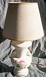 Click here to enlarge image and see more about item br-45: Vintage Small Lamp Rose Transfer