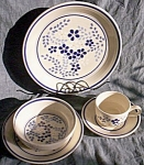 Click here to enlarge image and see more about item br-54: 5 Pc Place Set Franciscan Dinnerware Blueberry