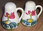 Click here to enlarge image and see more about item br-84: Vintage Range Set Shakers Poppies